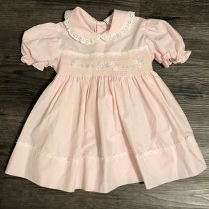 Other - Vintage Pink Baby Girl Dress 2T